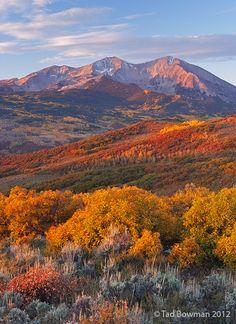 Mount Sopris Sunrise White River National Park, Colorado