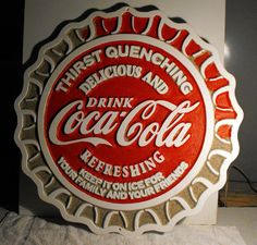 Coca Cola Carved Wood Sign by cassedywooddesigns on Etsy
