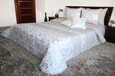 Luxusní bílo šedé přikrývky na manželskou postel VINTAGE Relax, Vintage, Furniture, Home Decor, Homemade Home Decor, Home Furnishings, Decoration Home, Primitive, Arredamento
