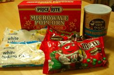 57 ideas party snacks easy cheap popcorn bar for 2019 Christmas Appetizers, Christmas Treats, Christmas Baking, Cheap Christmas, Christmas Stuff, Christmas Time, Night Snacks, Easy Snacks, Easy Desserts