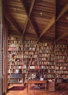 Private library in Costa Rica.