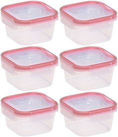 Food Storage Containers Set 6pcs BPA Free Plastic Airtight Dry Food