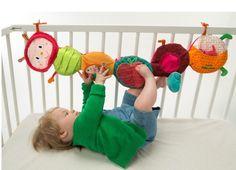 Lilliputiens Juliette Raupe Entdeckungsband Aktivspielzeug - Babyspielzeug für Laufstall oder Bettchen
