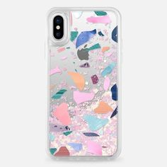 Casetify iPhone X Liquid Glitter Case - Terazzo II by Fernanda