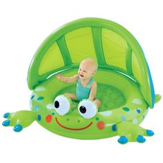 Frog Baby Shade Pool -  In the backyard, the beach or the park, up to four players take turns flicking their designated chicken toward a target.  They bounce, they roll, but can YOU hit the target?