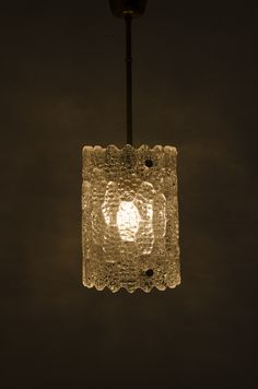 Carl Fagerlund glass ceiling lamp produced by Orrefors in Sweden at Studio Schalling