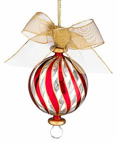lenox christmas ornaments peppermint stripe - Lenox Christmas Decorations
