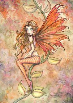 The Fairy Art and Fantasy Art of Molly Harrison: Autumn blazing Autumn Witch, Autumn Fairy, Elves And Fairies, Dark Fairies, Fairy Pictures, Love Fairy, Fairytale Art, Beautiful Fairies, Fairy Art