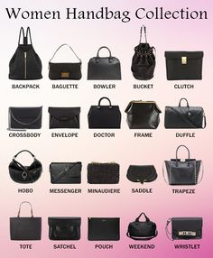 20 Super Stylish Handbag Types Every Woman Must Own! Fashion Terminology, Fashion Terms, Fashion Mode, Look Fashion, Fashion Bags, Fashion Accessories, Types Of Fashion Styles, Runway Fashion, Types Of Handbags