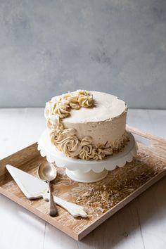 Banana Cake with Cinnamon Brown Sugar Buttercream