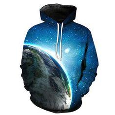 Eath Blue Galaxy Sweatshirt