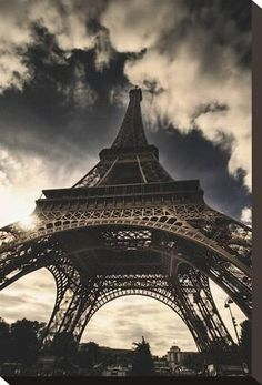 Stretched Canvas Print: The Eiffel Tower Canvas Print by Mark Verlijsdonk : 18x12in