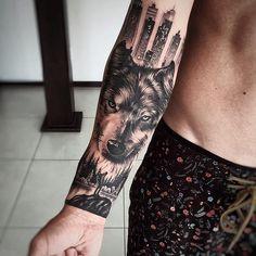 Outra foto do trabalho de sexta. Hand Tattoos, Weird Tattoos, Badass Tattoos, Wolf Tattoos, Animal Tattoos, Sexy Tattoos, Body Art Tattoos, Tribal Scorpion Tattoo, Wolf Tattoo Forearm