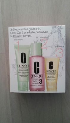Travel sized clinique three step system :-) x