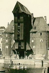 Danzig Krantor Danzig, Old Pictures, Architecture, Photo Illustration, Old Photos