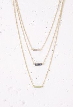 Faux Stone Layered Necklace | Forever 21 - 1000134178