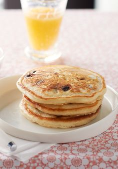 Chocolate-Chip Pancakes – No syrup necessary for these brunch-time pancake pleasers. Just drop a few semi-sweet chocolate morsels on top, flip and serve warm.
