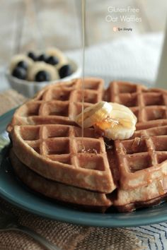 Soaked Gluten Free Oat Waffles   Live Simply