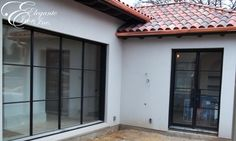 Iron window and double door. Window Inserts, Iron Windows, Double Doors, Contemporary Design, Garage Doors, Outdoor Decor, Home Decor, Decoration Home, Room Decor