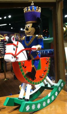 Mickey Mouse on a Christmas Rocking Horse.  Seen at Disney's Days of Christmas, a store in Downtown Disney / Disney World.   #MickeyMouse