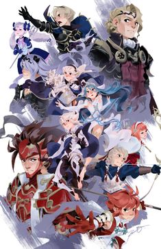 Fire Emblem Fates Combo by russelldels on DeviantArt Fire Emblem Awakening, Fire Emblem Fates Xander, Fire Emblem Fates Corrin, Fire Emblem Ryoma, Fire Emblem Conquest, Ghibli, Fire Emblem Wallpaper, Anime Manga, Anime Art
