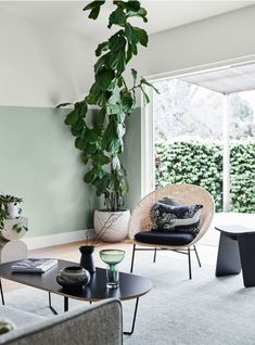 With society's growing emphasis on wellbeing, the Dulux Summer 2020 colour predictions see a return to calm, natural tones that speak of . Interior, Living Room Paint, Summer Colors, Home, Inside Design, Interior Design Trends, Color Trends, Warm Green, Dulux Colour