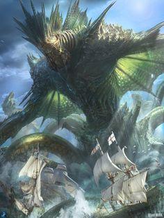 ArtStation - Dagon, the Sea Emperor, Vlad Marica