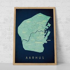 Map of surroundings of Aarhus Maps Pinterest Aarhus and City