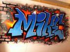 naam op muur