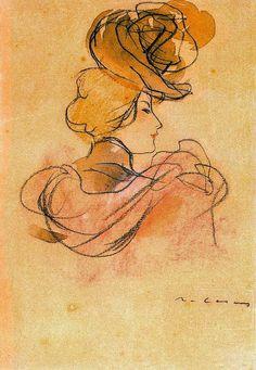 Female Portrait, Female Art, Woman Portrait, Spanish Painters, Spanish Artists, Ramones, Life Drawing, Drawing Tips, Drawing Ideas