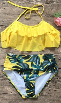 bathing suits – My WordPress Website Yellow Bathing Suit, Yellow Bikini, Cute Bathing Suits, One Piece Swimwear, Bikini Swimwear, Bikini Tops, Flounce Bikini Top, Trendy Swimwear, Cute Swimsuits