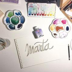 Reservar una zona para pintar una acuarela es un recurso cómodo para dibujar por encima sin preocuparse. Luego borras, sacas la goma y listo! #encargos#acuarelas#watercolors#acuarelaspersonalizadas#lettering#calligraphy