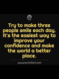Way to improve self confidence