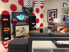 Disney House, Disney Rooms, Movie Theater Rooms, Theatre Rooms, Ethan Allen  Disney, Office Spaces, Pixar, Furniture Decor, Mickey Mouse