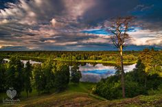 Evening... view from Vytautas mound in Birstonas town, Lithuania. Photo by Lukas Jonaitis (July 2014).