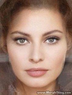 Sophia Loren, Ava Gardner, Bianca Balti and Raquel Welch morphed