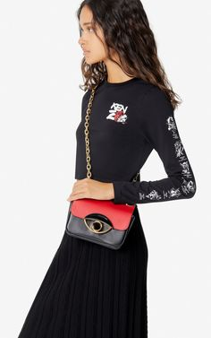 TALI crossbody bag  | Kenzo Medium Bags, Smooth Leather, Latest Trends, Crossbody Bag, Shoulder Bags, Metallic, Chinese, Fashion, Moda