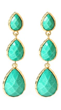 East Hampton Star Earrings by Amrita Singh >> These are exquisite! Love the color and shape!