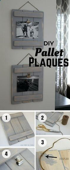 An easy tutorial for DIY Pallet Plaques from pallet wood - wood projects