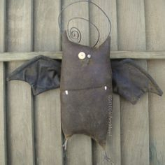 Kevin the Bat, A Primitive Pattern from Raven's Haven. $9.00, via Etsy.