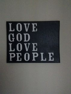 Love God love people canvas