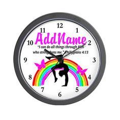 CHRISTIAN GYMNAST Wall Clock http://www.cafepress.com/sportsstar  #Gymnast  #IloveGymnastics   #WomensGymnastics  #Gymnastgift #Personalizedgymnast #Customgymnast #Gymnasticsideas #Gymnastics