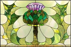 Artichoke stained glass