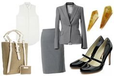 Corporate attire for summer - Office Outfits Corporate Fashion, Corporate Attire, Business Fashion, Business Professional Attire Women, Professional Dress For Women, Office Attire Women, Work Attire, Summer Office Outfits, Summer Outfit