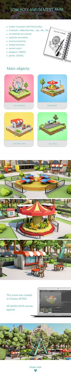 Low Poly Amusement Park on Behance