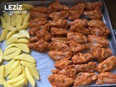 Fırında Patatesli Tavuk Kanat Tandoori Chicken, Chicken Wings, Meat, Ethnic Recipes, Food, Bulgur, Beef, Meal, Essen