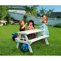 KidNic Children's Picnic Table, White - KA highly recommended