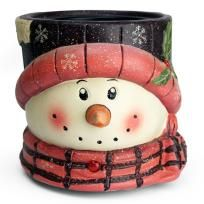 CANDLE WARMER SNOWMAN/ PINK - FREE SHIPPING $24.00