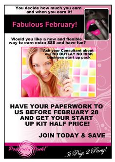 We have a fantastic offer for the month of February for anyone thinking of joining our team. We are offering a HALF PRICE starter kit for anyone who has paperwork handed in by 28 February. We have information ready send and kits ready to go! Hurry for this limited time offer...... Join Our Team, Hens Night, Pink Parties, Starting A Business, Party Planning, Have Fun, 28 February, Positivity, Half Price