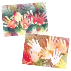 Rock Art Stencilling craft idea - great for learning about NAIDOC Week